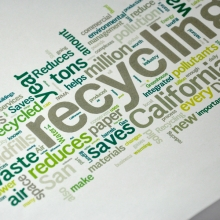 One Earth Recycling Word Cloud