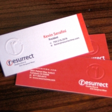 Resurrect Business Cards