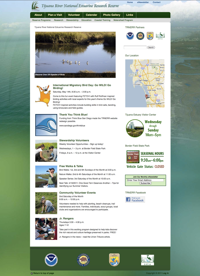 Tijuana Estuary Website
