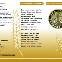 San Diego Brewers Guild Brochure