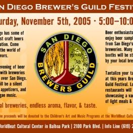 San Diego Brewers Guild Festival Brochure
