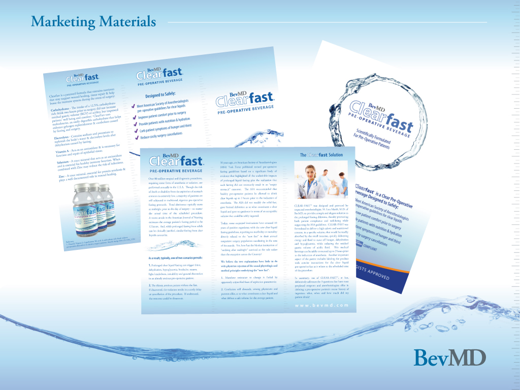 Clearfast Marketing Materials