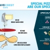 Wave Crest Cafe Infographic Specialty Pizza