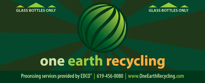 One Earth Recycling Bin Sign