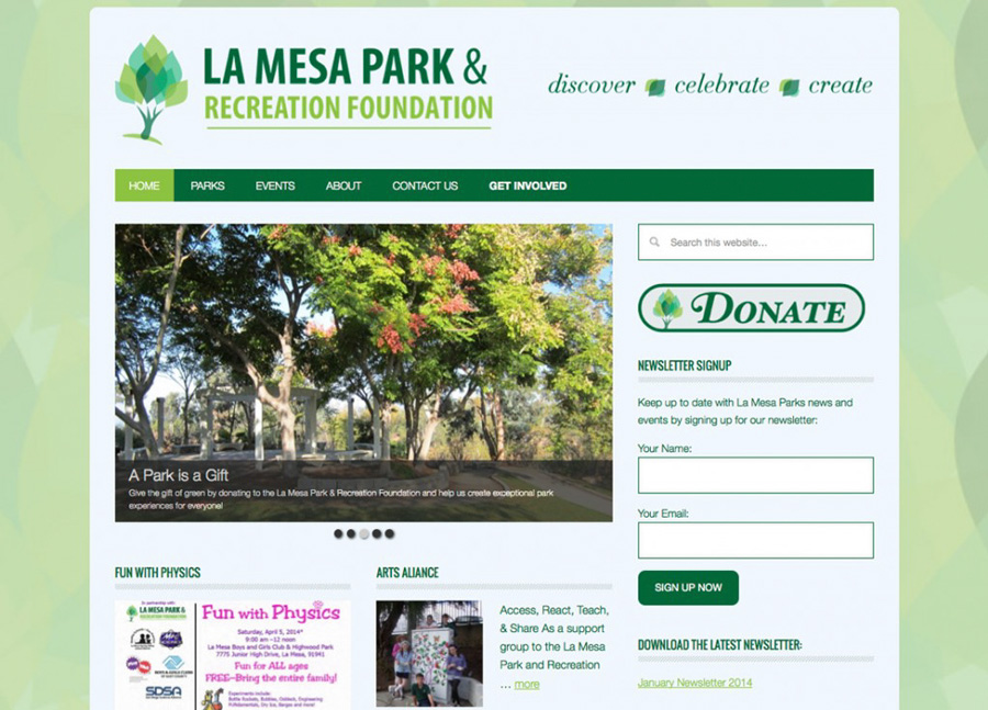 La Mesa Parks and Recreation Website