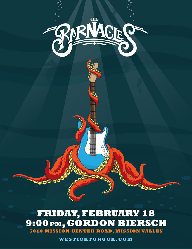 The Barnacles Jellyfish Poster