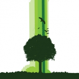 One Earth Tree Poster