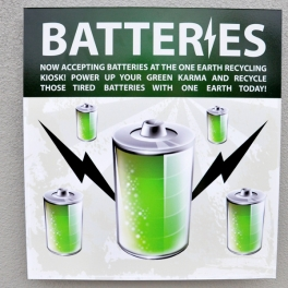 Batteries Sign