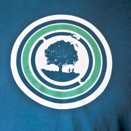 One Earth Recycling T-shirt Detail