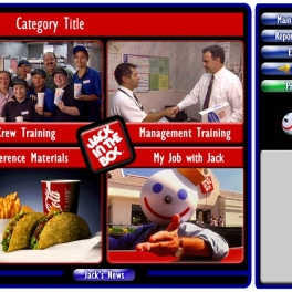 Jack In The Box Touchscreen Training Interface