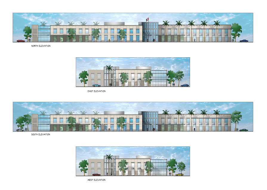 Palomar Concourse Elevation Rendering