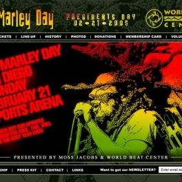 Bob Marley Day Festival Website