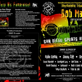 Bob Marley Day Festival Program Front and Back